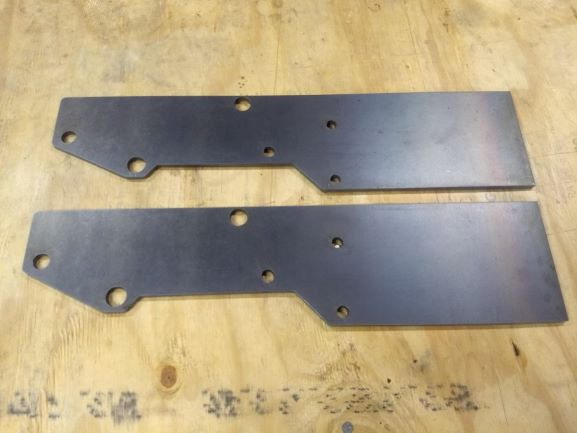 Extended Jeep Cherokee XJ Front Bumper Mounting Plates
